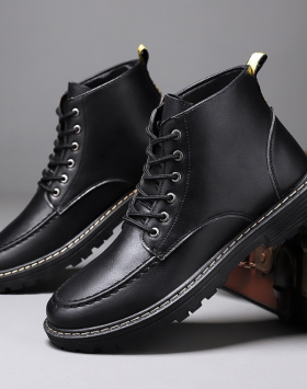 Sepatu Boost Pantofel Pria Kulit Sintetis