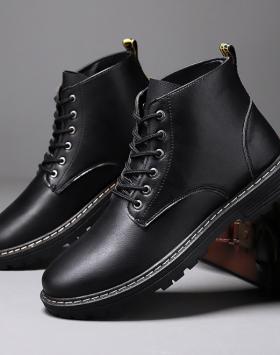 Sepatu Boots Formal Pantofel Kulit Sintetis Terbaik