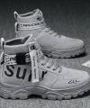 Sepatu Boots Kulit Sintetis Import Kekinian