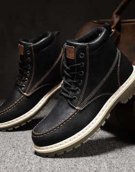 Sepatu Boots Pria Casual Keren Warna Hitam