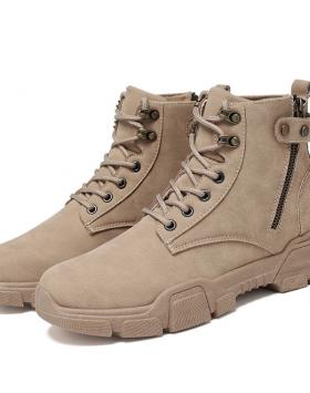 Sepatu Boots Pria Casual Resleting Murah