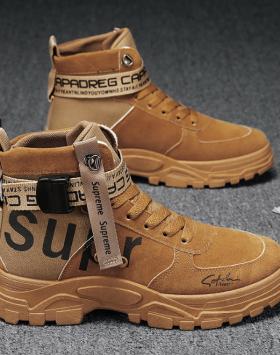 Sepatu Boots Pria Kulit Sintetis Import