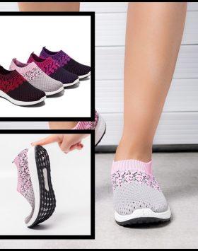 Sepatu Slip On Wanita Nyaman Lentur Anti Selip