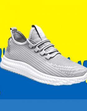 Sepatu Sneakers Pria Sport Running Abu Abu
