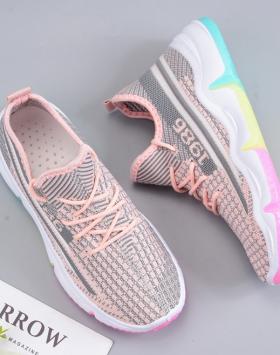 Sepatu Sneakers Wanita Pink Muda Terbaru 2020