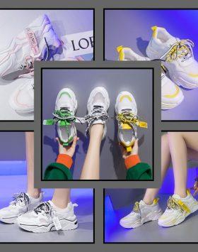 Sepatu Sneakers Wanita Sport Korea Terbaru