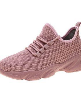 Sepatu Wanita Sneakers Import Warna Pink