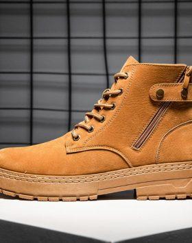 Sepatu Boots Pria Import Warna Coklat Harga Murah