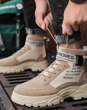 Sepatu Boots Pria Import Warna Coklat Khaki