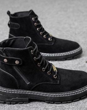 Sepatu Boots Pria Import Warna Hitam Harga Murah