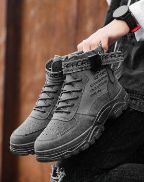 Sepatu Boots Pria Warna Abu Abu Keren