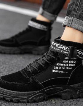 Sepatu Boots Pria Warna Hitam Terbaru