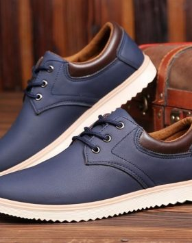 Sepatu Sneakers Pria Casual Warna Biru Murah