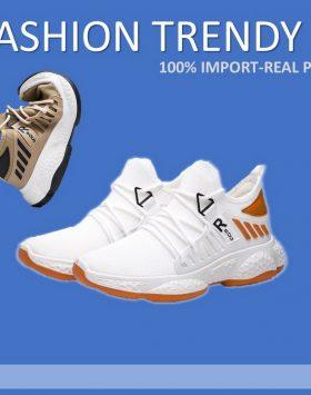 Sepatu Sneakers Pria Warna Putih Trendy
