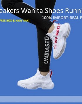 Sepatu Sneakers Wanita Fashion Style Warna Putih