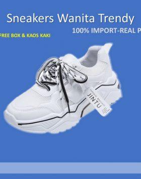 Sepatu Sneakers Wanita Terbaru Warna Putih