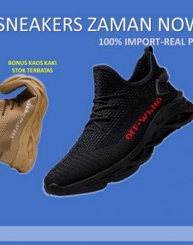 Sneakers Pria Warna Hitam Model Sekarang