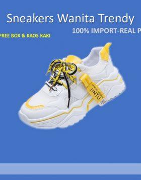 Sneakers Sepatu Wanita Model Terbaru Warna Putih