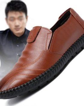 Sepatu Pantofel Kulit Sintetis Murah Terbaik