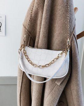 Tas Wanita Selempang Croco Shoulder Bag Harga 50rb